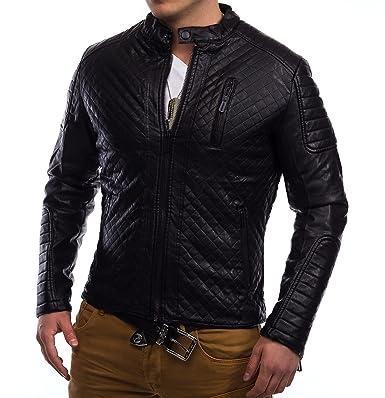 Veste en cuir homme taille xl