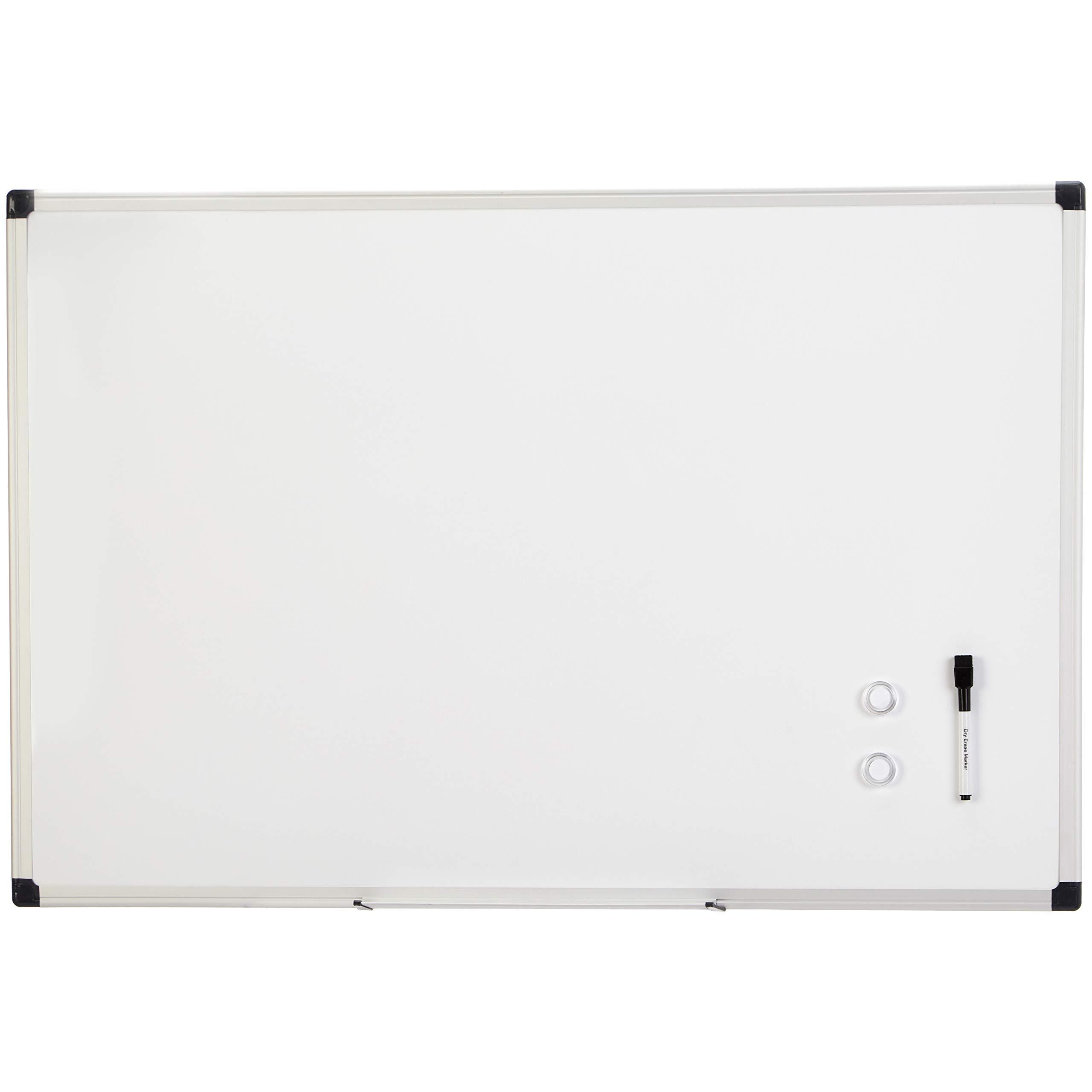 AmazonBasics Magnetic Framed Dry Erase White Board, 24 x 36 Inch by AmazonBasics