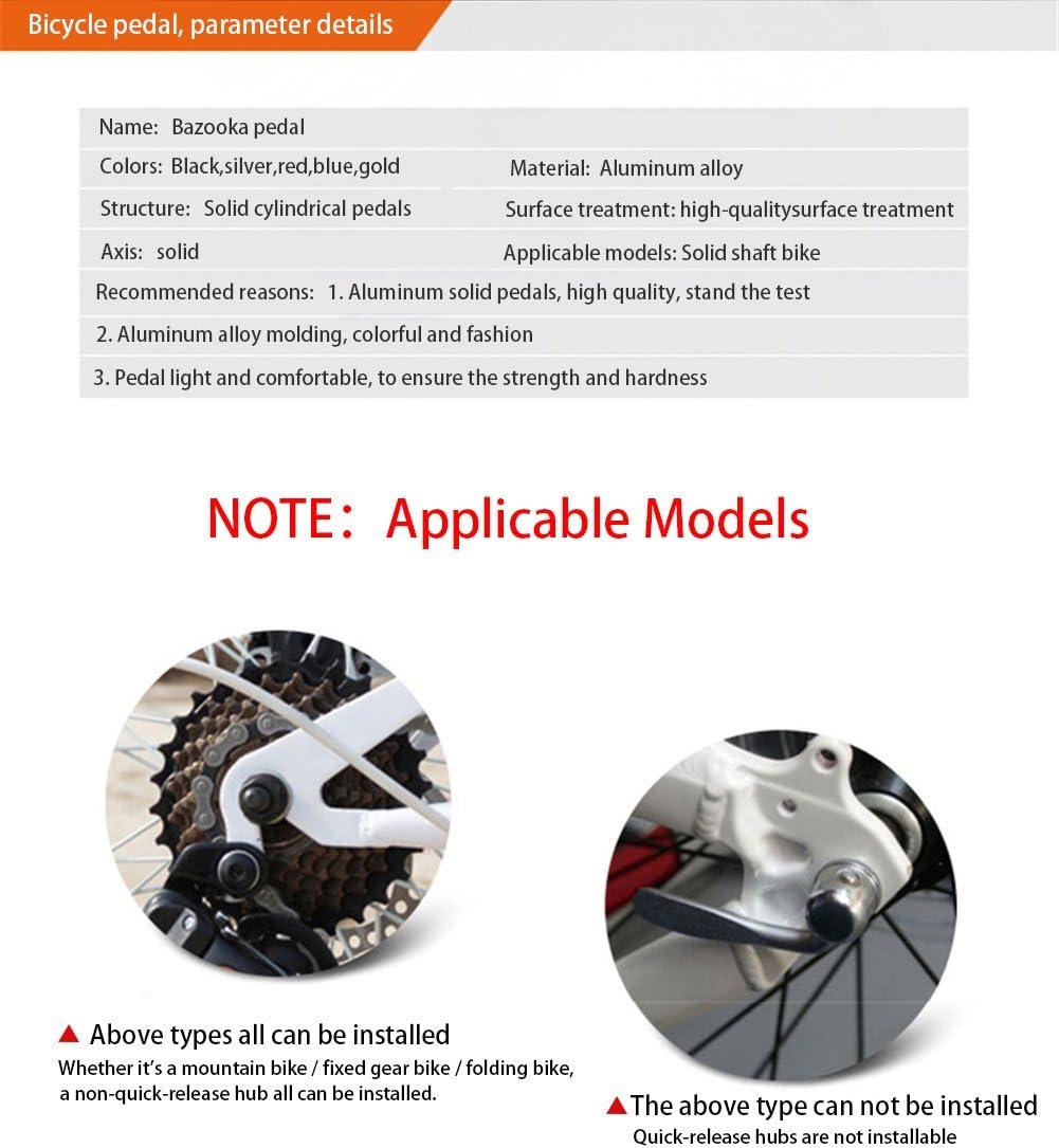 ICOCOPRO BMX Pinzas para Bicicleta de monta/ña aleaci/ón de Aluminio, pies, Cilindro, Negro, Rojo, Plateado, Azul, Naranja
