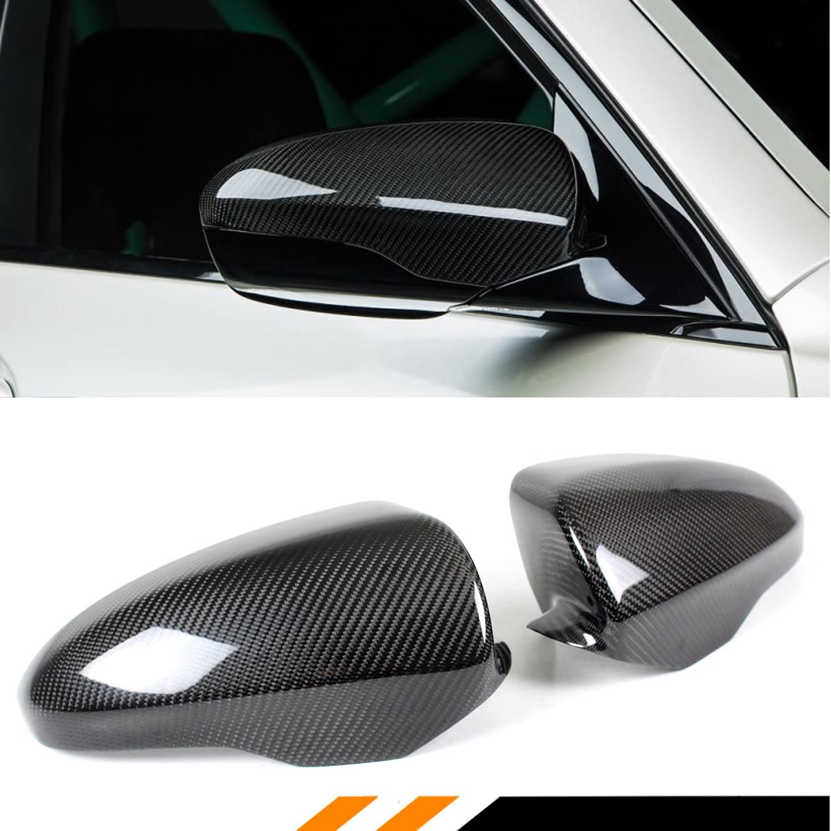 Carbon Fiber Tape-on Mirror Covers for 2012-2017 BMW M5 M6 2013 2014 2015 2016