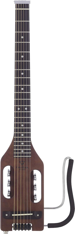 Guitarra de viajero, 6 cuerdas, guitarra acústica-eléctrica, derecha, marrón antiguo, (ULA ABNS)