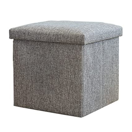 Fantastic Amazon Com Lff Folding Ottoman Storage Box With Lid Ncnpc Chair Design For Home Ncnpcorg
