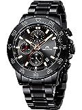 MEGALITH Relojes Hombre Reloj Cronografo Grande Militar Acero Inoxidable Impermeable Relojes de Pulsera Elegante…