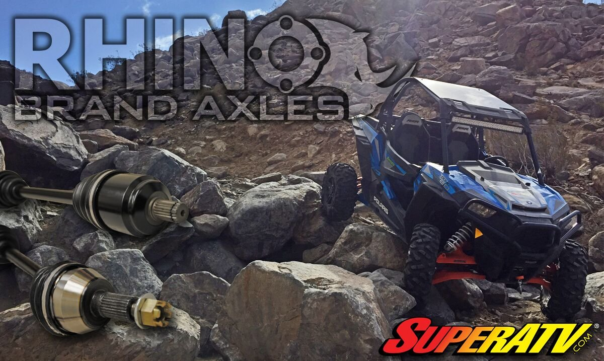 SuperATV Heavy Duty Rhino Brand Rear Axle for Polaris Ranger Midsize 570 (2014 Only) - Stock Length REAR Axle - Upgrade From Your OEM Axle!