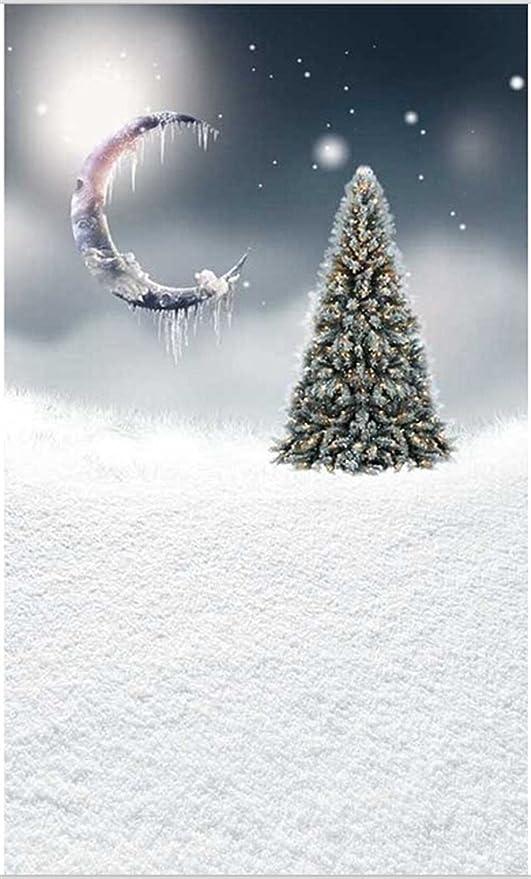 Suave color blanco nieve suelo gris cielo verde árbol de pino con dorado Sparkle Frozen media