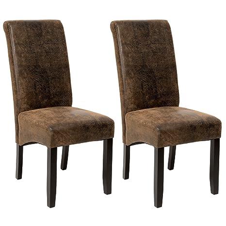 TecTake Set 2x design sedia per sala cucina da pranzo sedie altezza ...