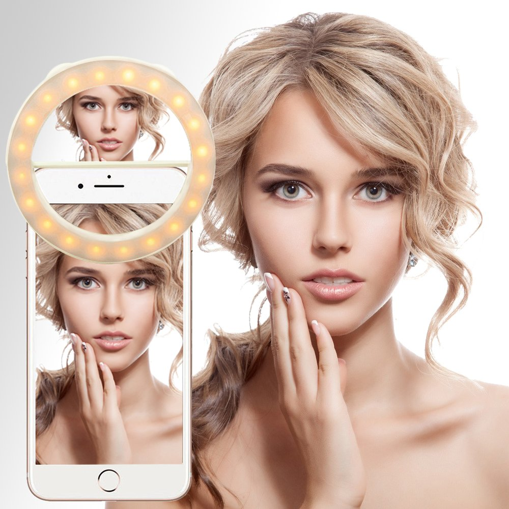 Selfie Light, SKL 40 LED Rechargeable Selfie Ring Light: Amazon.co ... for Beauty Light For Iphone  173lyp