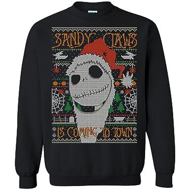 Amazon.com: Jack Skellington Nightmare Before Christmas Ugly Sweater ...