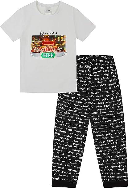 FRIENDS Central Perk - Pijama para niñas, café, programas de televisión, niños, color negro y blanco