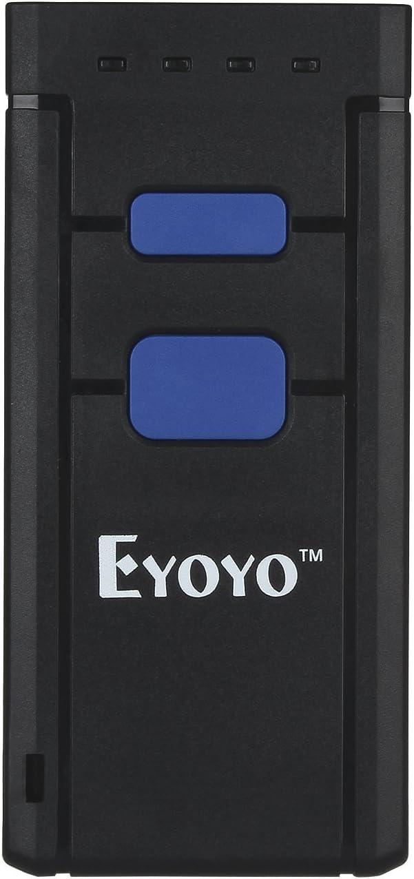 Eyoyo - Mini escáner de mano con Bluetooth, lector de códigos de barras 1D CCD inalámbrico portátil con luz roja Barcode Scanner compatible con Windows Android e iOS