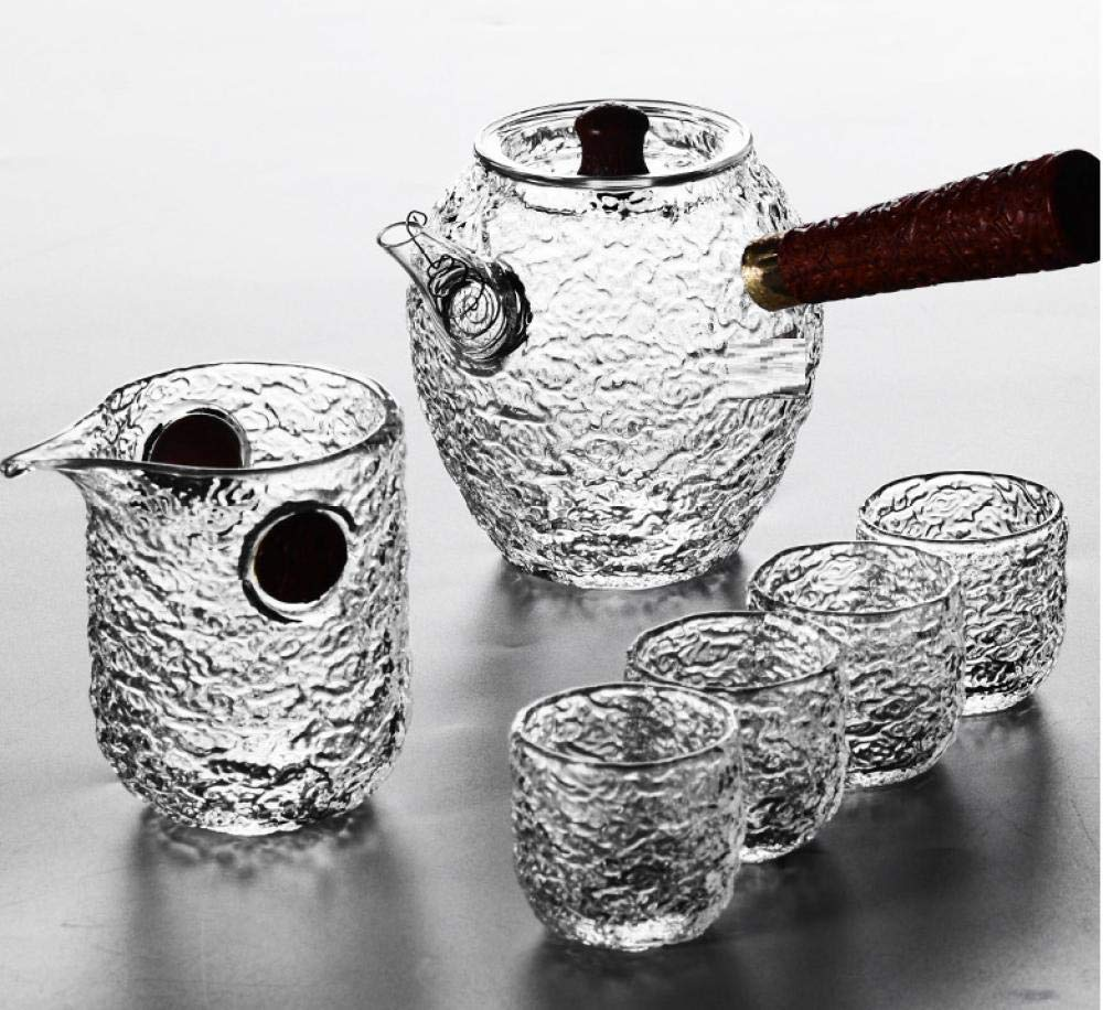 POTOLL Teiera Hammer Resistente al Calore Set da tè casa Teiera Set Trasparente @ b Prezzi