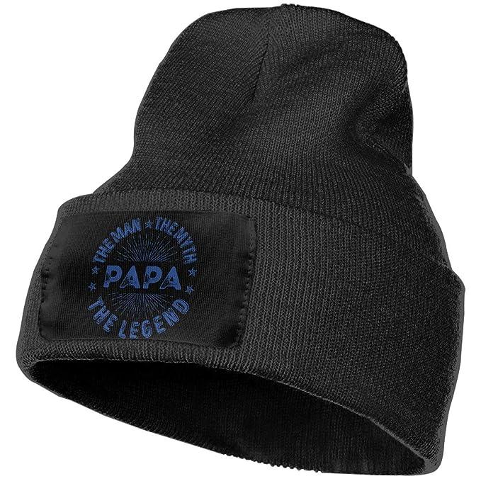 83a4320e900 The Man The Myth The Legend PAPA Warm Winter Hat Knit Beanie Skull Cap Cuff  Beanie