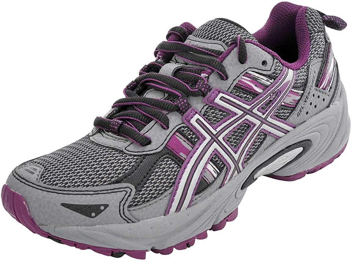 ASICS Women's Gel-Venture 5 Trail Running Shoe, Frost Gray/Gray/Silver/Magenta, 7.5 M US by ASICS