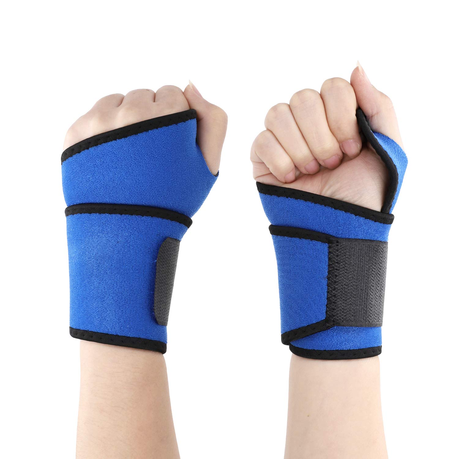 Wrist Band Support Sleeve Wrist Support Strap Adjustable Wrist Wraps Sports Bandage Carpal Tunnel Compression Strap Elastic Breathable Weight Lifting Straps Wrist Brace for Men Women Gym Fitness