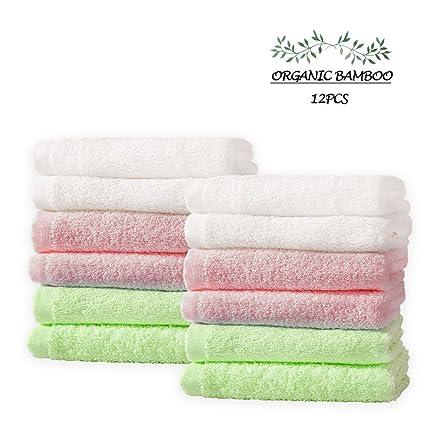 Toallas de baño para bebé reutilizables de bambú orgánico, absorbentes de paños de baño,
