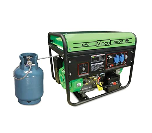 60171 Generador de corriente GLP VINCO monofase 4, 8kw 4 tiempos ...