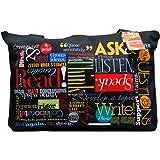 """Teacher Peach """"Words to Grow By"""" Teacher Tote Bag - Large Motivational Handbag with Zipper - Best for Teacher Appreciation, English School Teachers, or New Teacher Gifts for Women"""