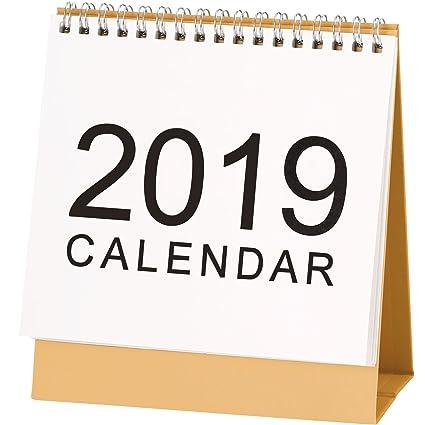 Amazon Com Hotop Desk Monthly Calendar Sep 2018 To Dec 2019