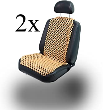 Lacy Wood 2 Stück Holzkugel Holzperlen Massage Sitzauflage Sitzbezug Sitzmatte Sitzaufleger Auto
