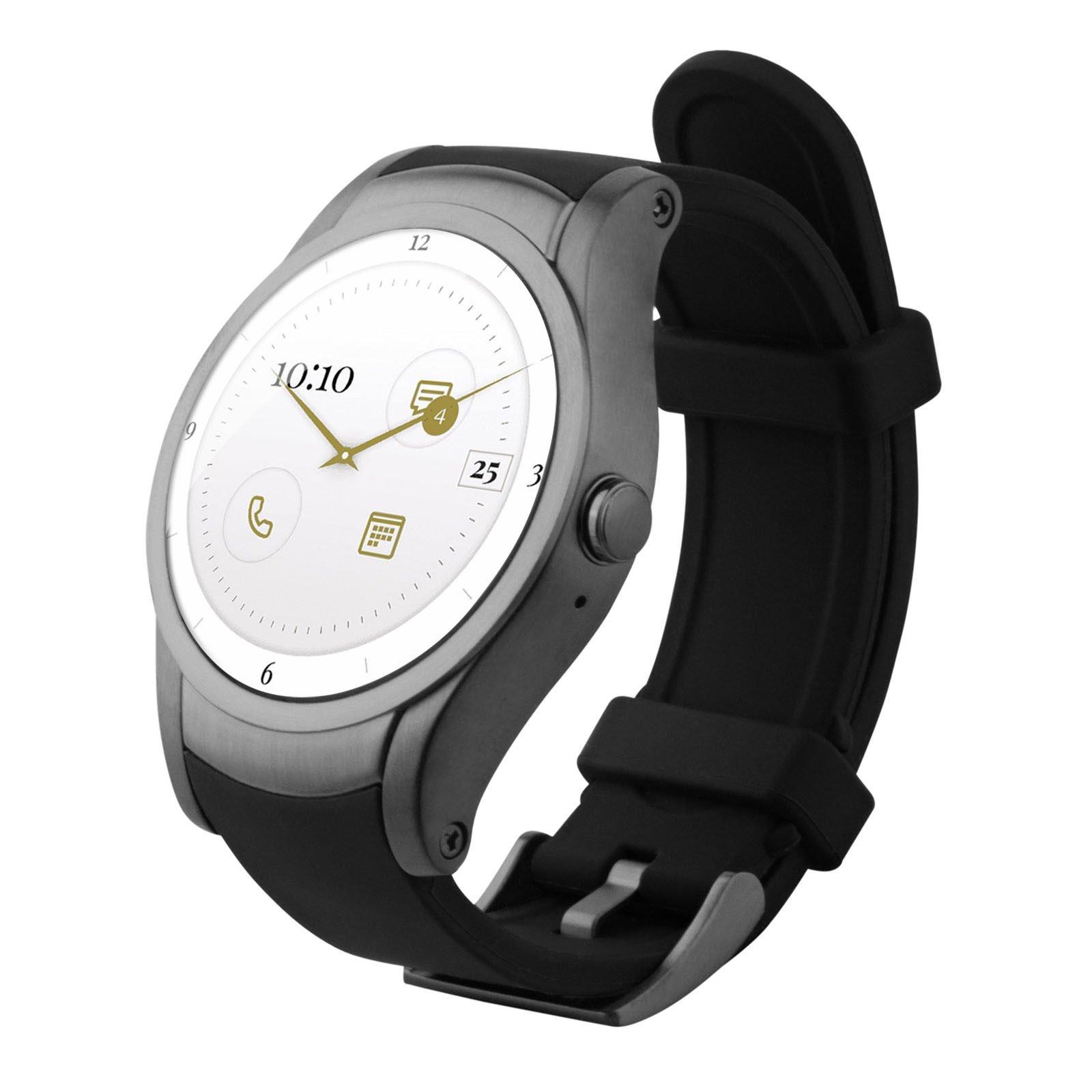 Wear24 Android Wear 2.0 42mm 4G LTE WiFi+Bluetooth Smartwatch (Gunmetal Black)