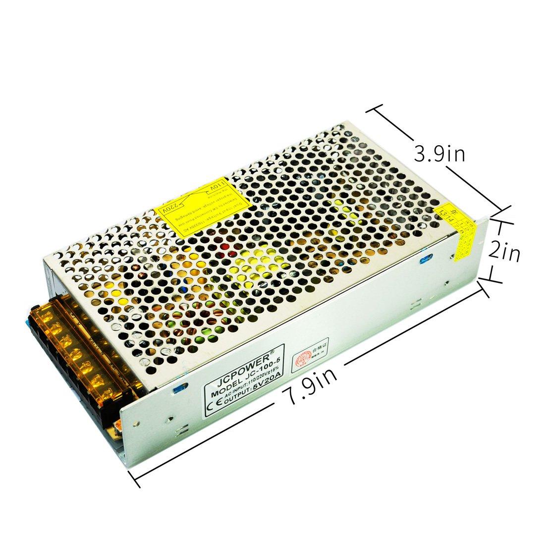 BTF-LIGHTING DC5V 60A 300W Aluminium Netzteil für WS2812B APA102 LED8806 WS2801 SK6813 LED-Streifenmodule Licht BTF-LIGHTING Teachnology Co. Limited A5V60A