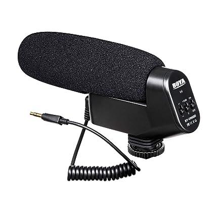 Amazon com: TRS Shotgun Microphone, BOYA BY-VM600 Cardioid