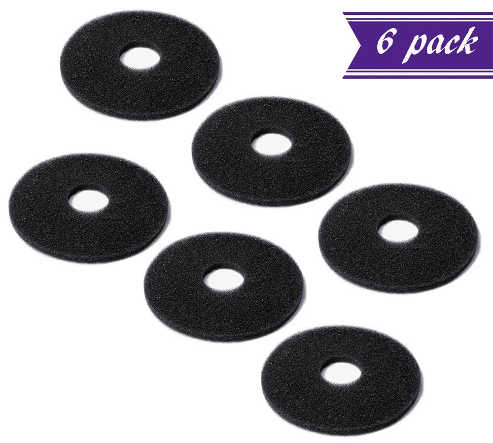 (Pack of 6) Replacement Sponges for Bar Glass Rimmer / Margarita Salter Replacement Sponges by Tezzorio