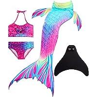 Wishliker zeemeerminnen voor meisjes en meisjes, voor zwemmen met zeemeerminvin, prinses badkleding bikini cosplay…
