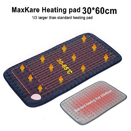 MaxKare 30 x 60cm Almohadilla Electrica con Calor Suave Textura y Tecnología de Calefactora Rápido para