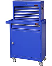Dirty Pro Tools™ MEDIUM TOOL CHEST WITH DRAWER DIVIDERS TOP CABINET TOP BOX AND ROLLX