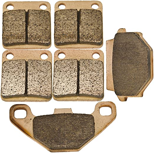 Cyleto Front and Rear Brake Pads for SUZUKI LTA500 LT-A 500 Vinson 500 4WD Auto 2003 2004 2005 2006 2007 LTF500 LT-F 500 2003 2004 2005 2006 2007