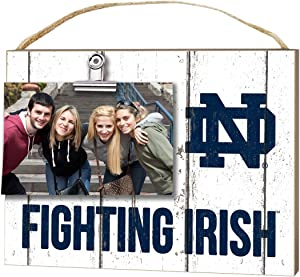 """KH Sports Fan 10""""x8"""" Notre Dame Fighting Irish Clip It Weathered Logo Collage Photo Frame, White"""