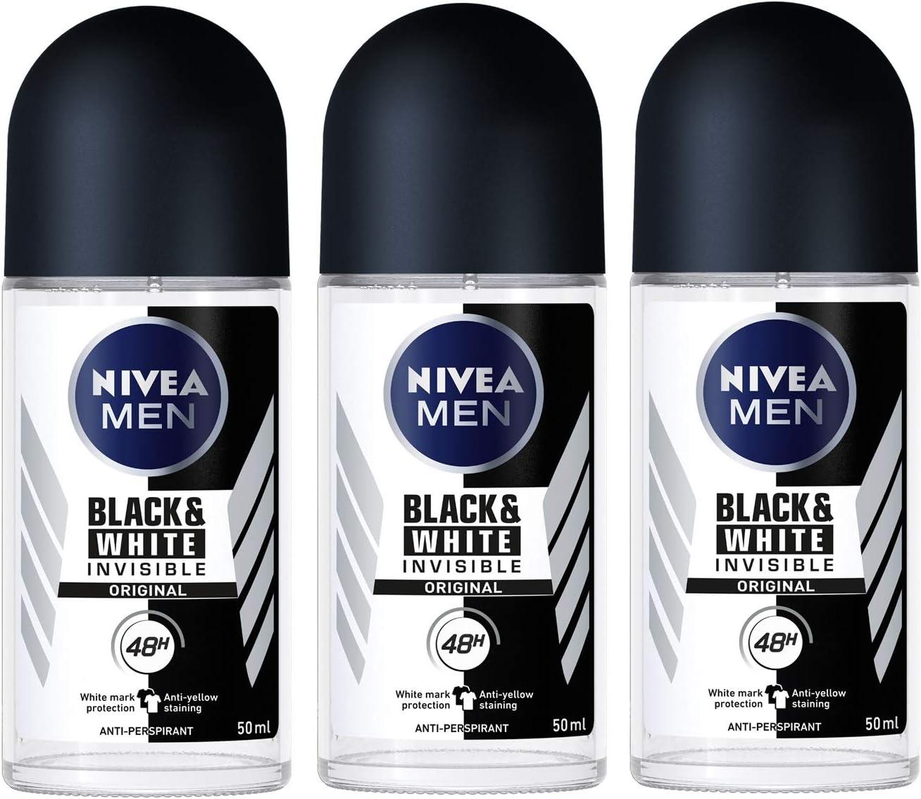 Nivea for Men Invisible for Black & White Deodorant roll-on