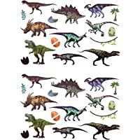 Oblique Unique® Kinder Dino Tattoos 32 Stück Farbenfroh Temporär Dinosaurier Tattoo zum Spielen Spielspass für Jungs zum Kindergeburtstag
