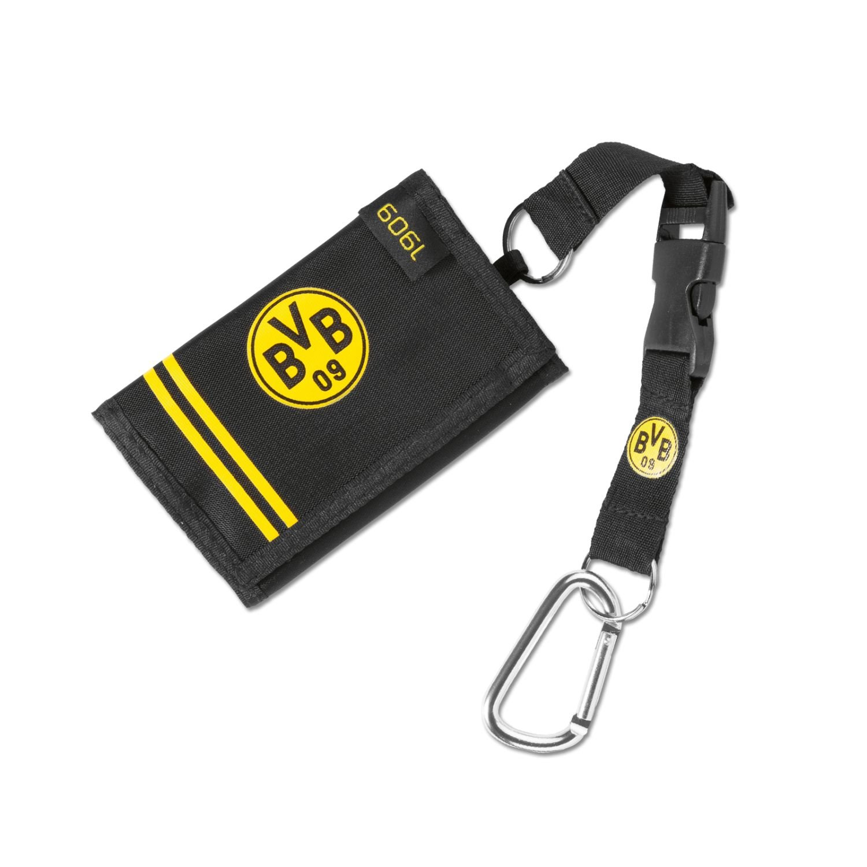 gratis Sticker Dortmund forever Geldb/örse 1909 mit Karabiner Borussia Dortmund BVB 09 Geldbeutel Portemonnaie,