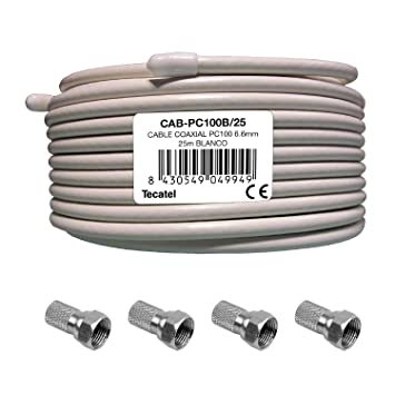 CABLE COAXIAL TECATEL 25 M: Amazon.es: Electrónica