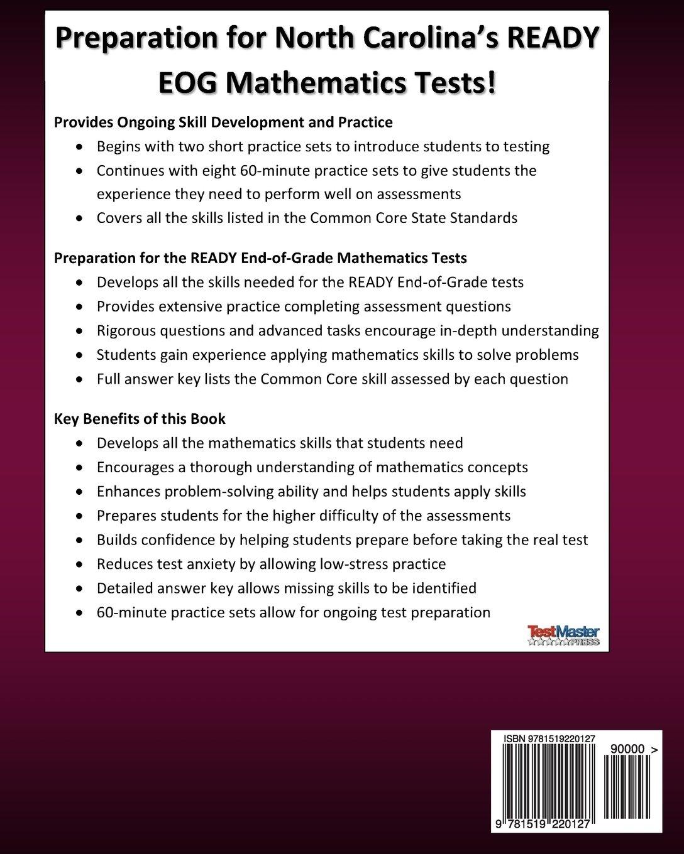 Amazon.com: NORTH CAROLINA TEST PREP Practice Workbook READY End-of-Grade  Mathematics Grade 5: Preparation for the READY EOG Mathematics Tests ...