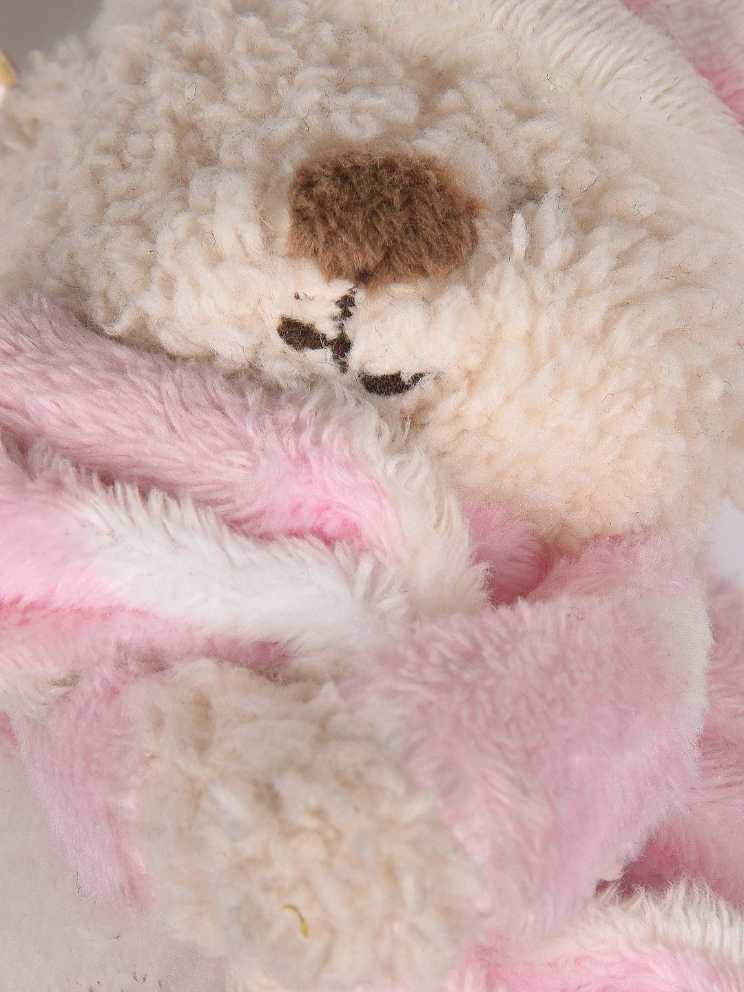 Mothercare BEDTIME teddy BEAR Pink Cream Comforter blankie Soft Toy star