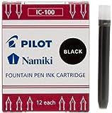 PILOT Etui de 12 Cartouches d'encre Namiki pour Stylo Capless Noir