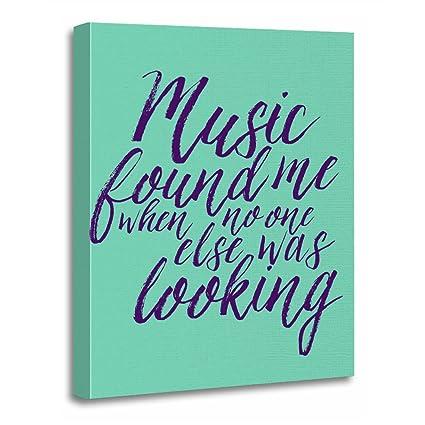Amazon Com Torass Canvas Wall Art Print Motivational Music Quote