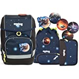Ergobag Special Edition Galaxy Cubo Schulranzen-Set 5-tlg KoBärnikus 9B8 kobärnikus glow