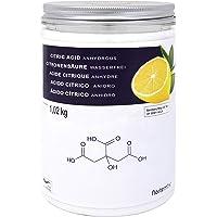 NortemBio Zitronensäure 1,02 Kg. 100% Reines Pulver in Lebensmittelqualität. Ökologischer Input. Entwickelt in Deutschland.