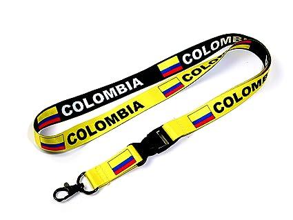 Bandera de Colombia Reversible cordón/llavero con clip para llaves ...