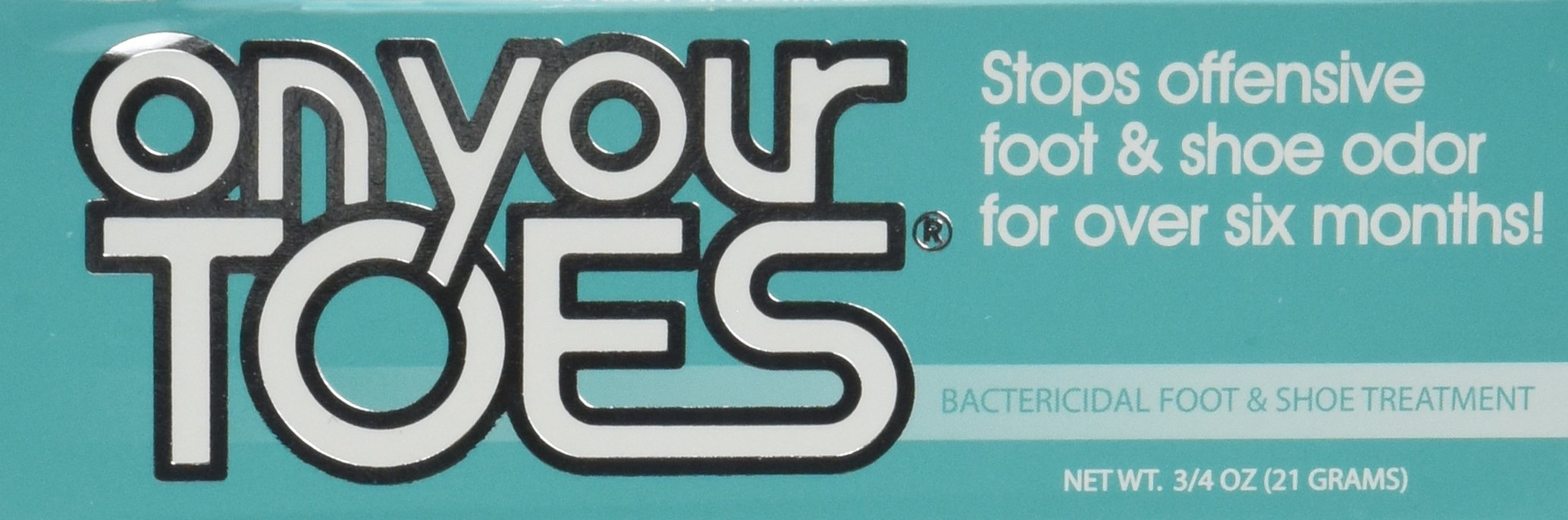 On Your Toes Foot Bactericide Powder - Eliminates Foot Odor for Six Months, 3/4 oz - Two Pack by Fraser Laboratories