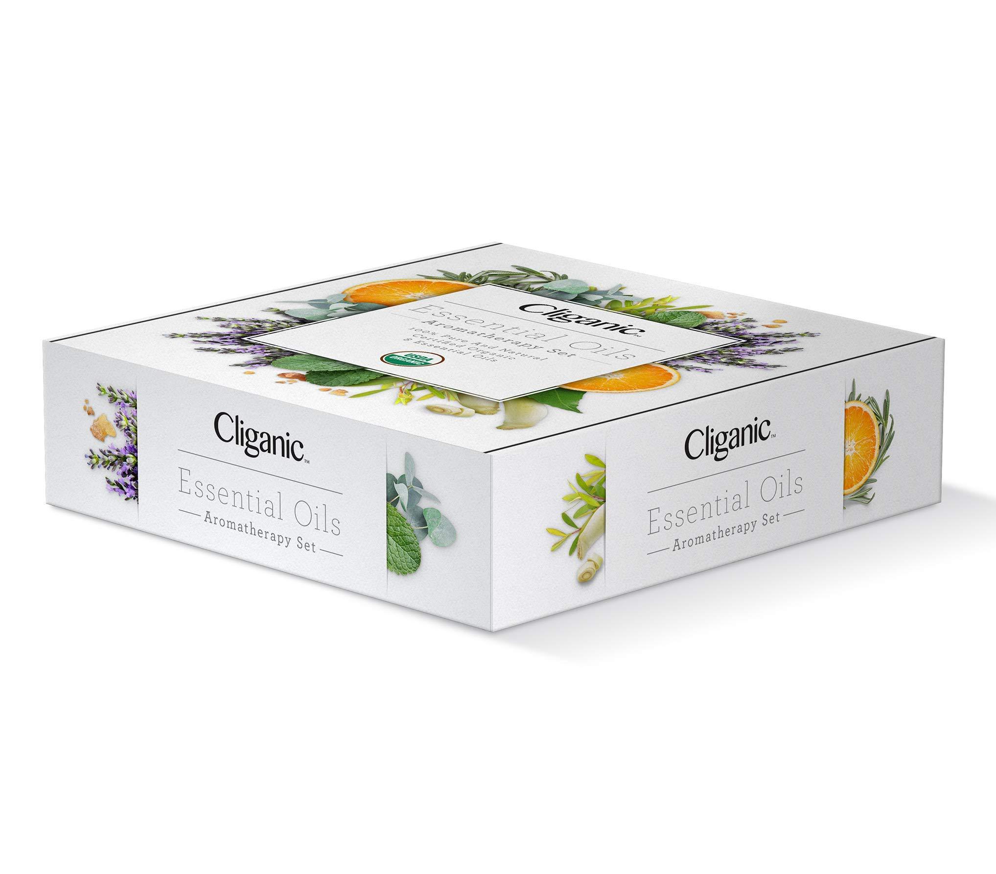 Cliganic USDA Organic Aromatherapy Essential Oils Set (8 Pack), 100% Pure Natural - Peppermint, Lavender, Eucalyptus, Tea Tree, Lemongrass, Rosemary, Frankincense & Orange | Cliganic 90 Days Warranty by Cliganic (Image #4)
