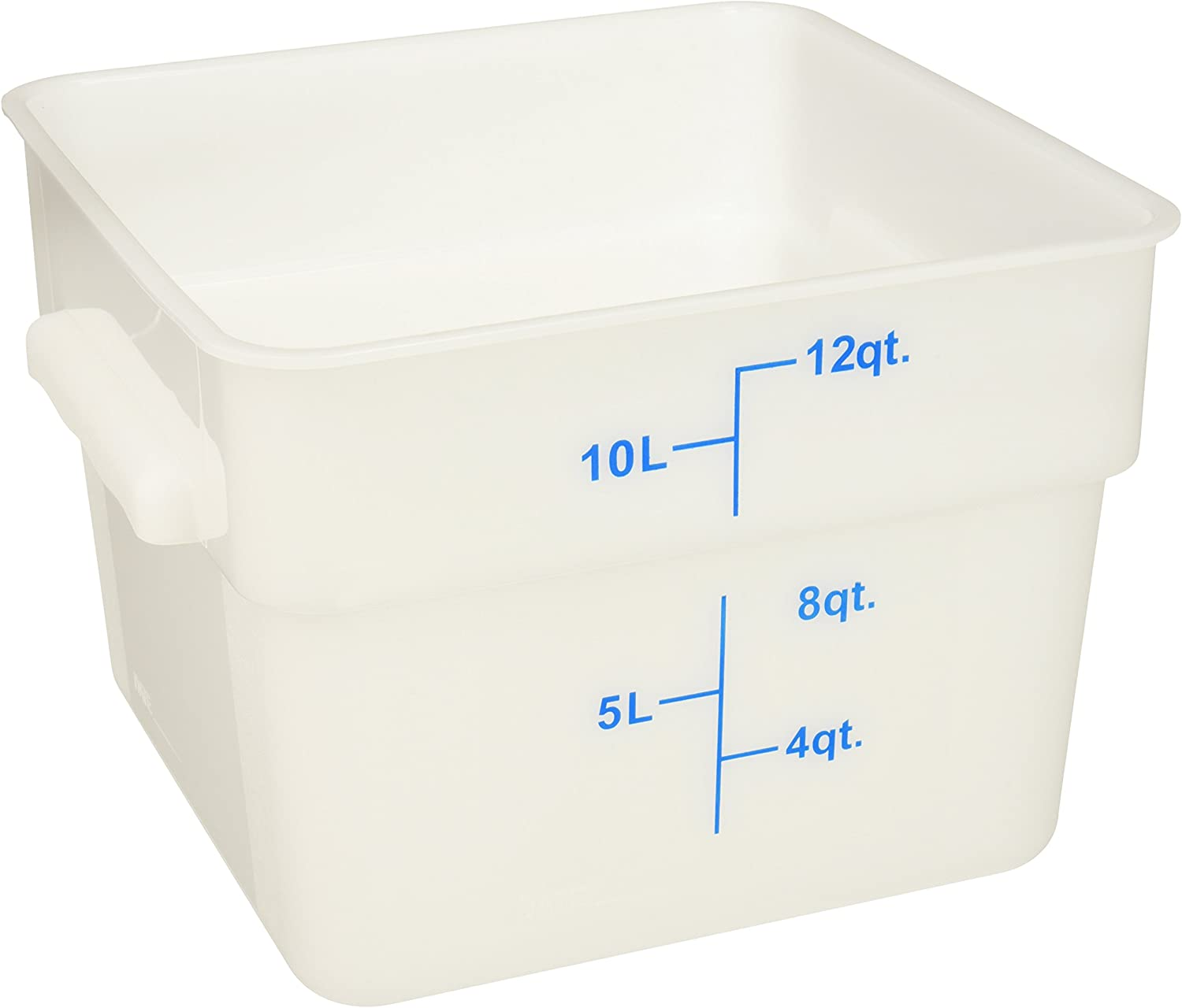 Winco Square Storage Container, 12-Quart, White