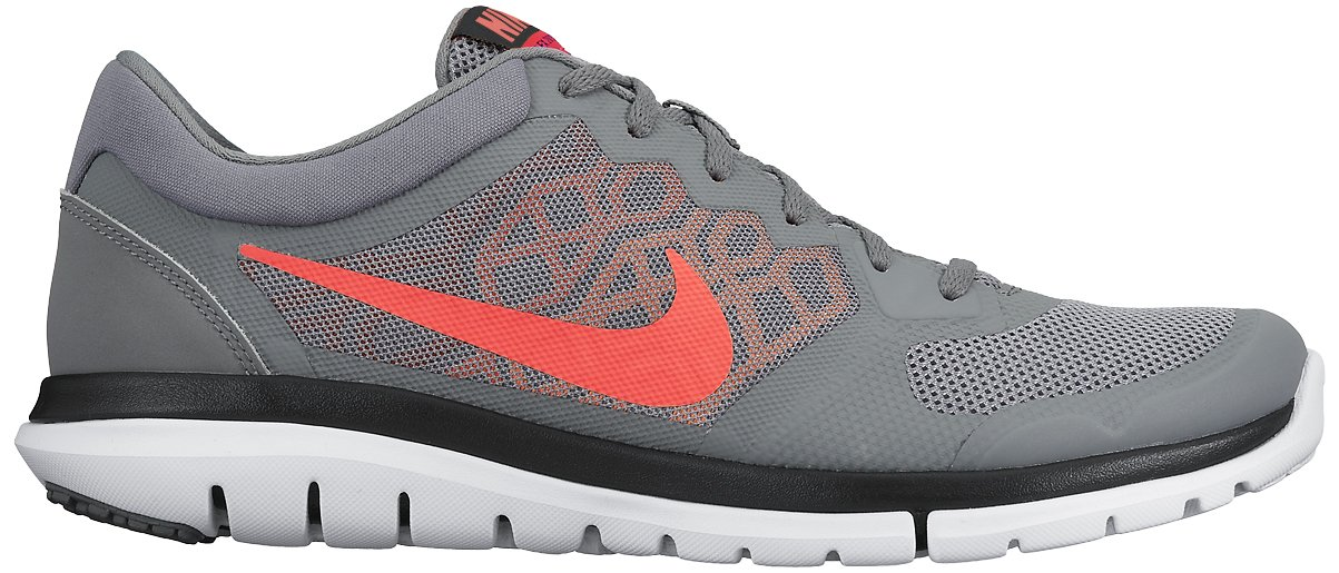 Nike Flex 2015 RN Zapatillas de Running, Hombre 42 EU Gris / Naranja / Blanco (Cl Gry / Hypr Orng-brght Crmsn-u)