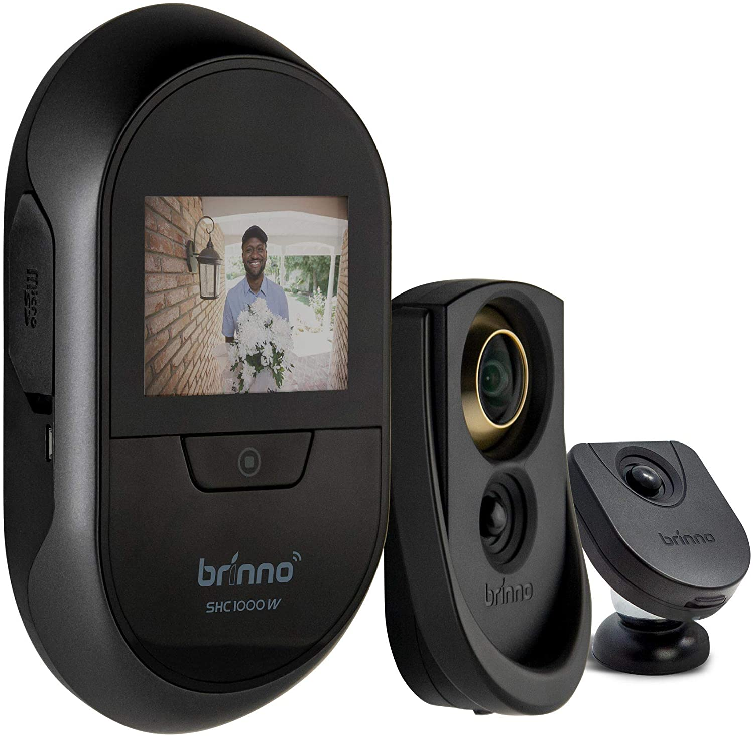 Brinno Duo SHC1000W Smart Home Concealed Peephole Camera 12mm Size Remote Access DIY Install Data Privacy