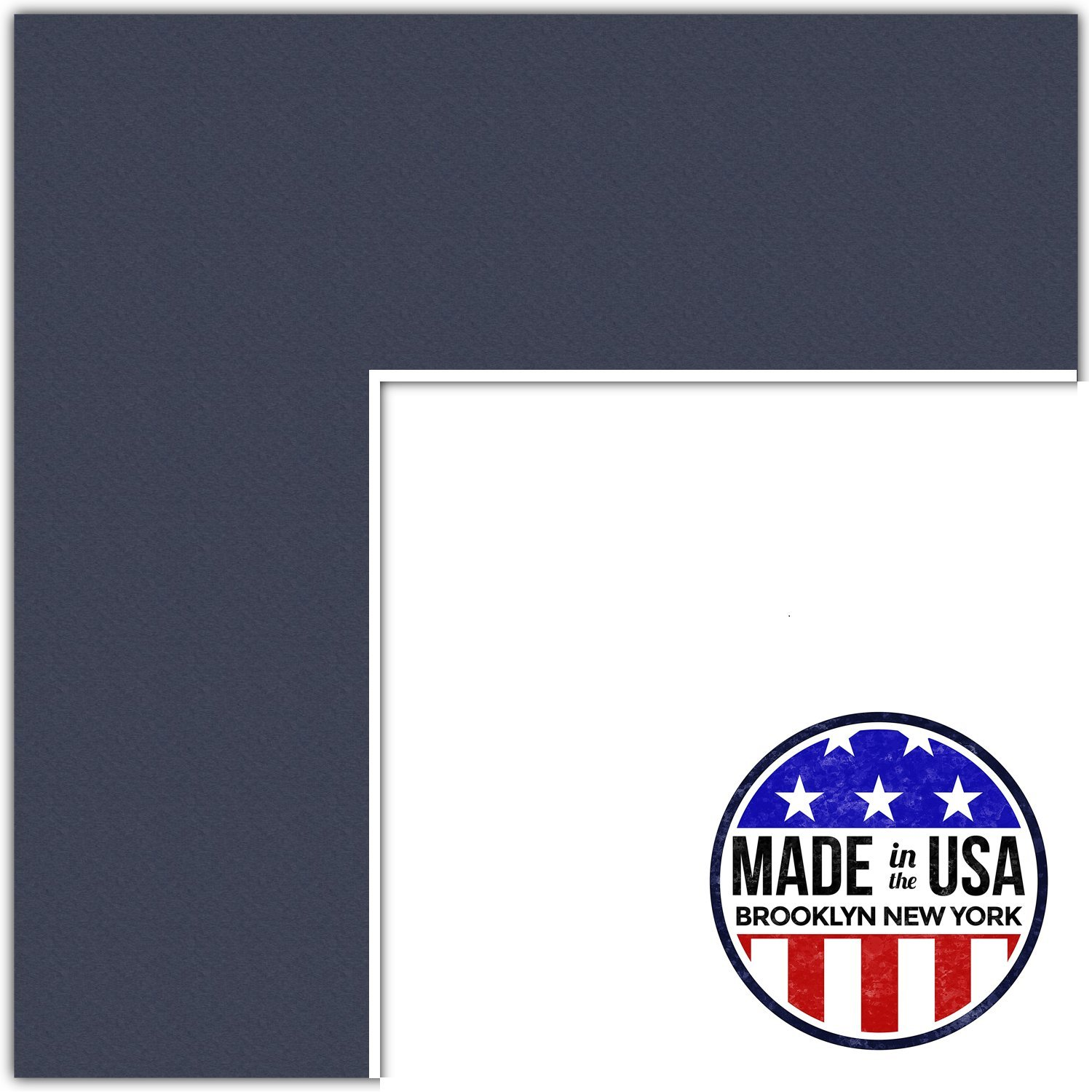 20x34 Midnight Blue / Blue Jay Custom Mat for Picture Frame with 16x30 opening size (Mat Only, Frame NOT Included)