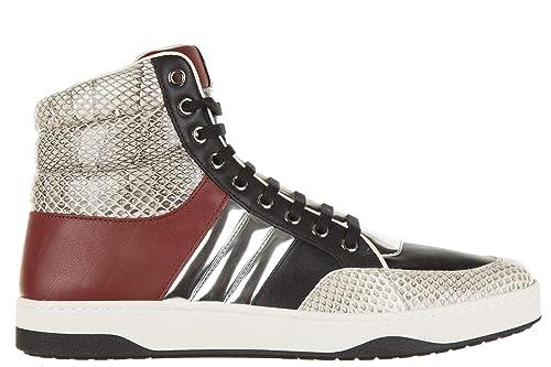 Gucci Zapatos Zapatillas de Deporte largas Hombres en Piel Ayers Negro EU 44 368494 EQY20 9562: Amazon.es: Zapatos y complementos